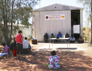 APY Lands Anangu, feeling threatened, took turns to air their views