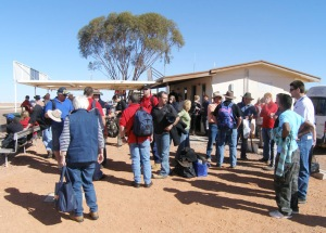 The Coober Pedy Airport departure lounge