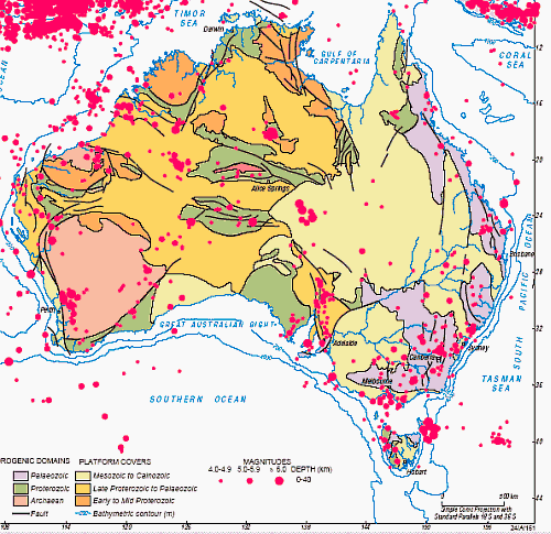 FAULTLINES WEAVING THEIR WAY ACROSS SOUTHERN AUSTRALIA Coober - Us east coast fault lines map
