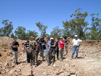 University students from ParisTech, France viewing the Jag Hill
