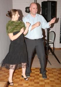 "Prudy and Damien Clark swinging to ""Sweet Caroline"""