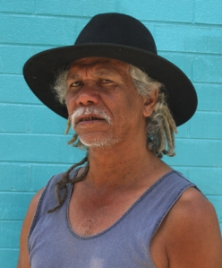 "Tibby Quall, a proud Dangalaba Larrakia traditional owner - ""Human Right to the test"""
