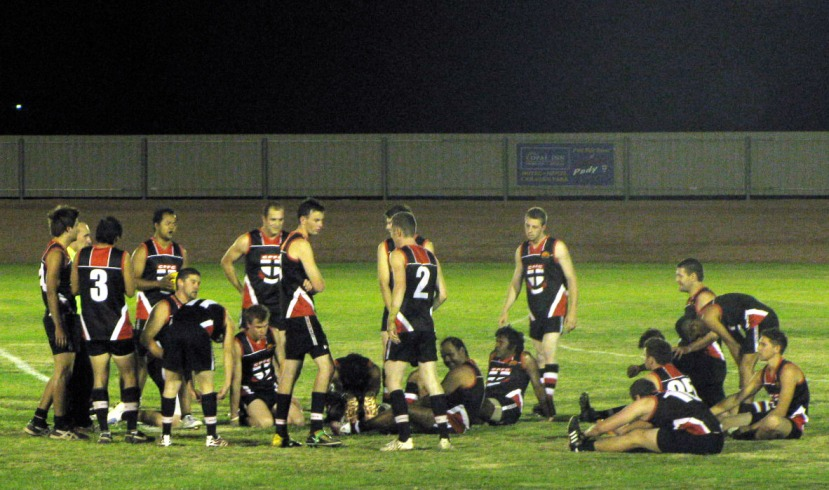 Saints take a breather at quarter time under the lights at Oxiana Oval