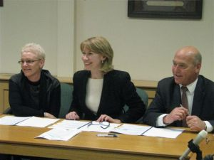 (left to right) Wendy Campana,  Executive Director Local Government Association; Maxine McKew, Parliamentary Secretary for Infrastructure, Transport, Regional Development and Local Government; and Paul Caica, SA Minister for Regional Development.