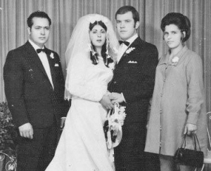 My sisters Godparents wedding.   My father Domenico, Sophie and Robert Edmunds and my mother Vicki