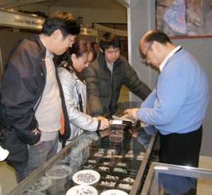 Tony Wong looking after International visitors attending the Show