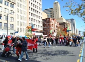 FoE Adelaide march with 1,500 others in Adelaide protesting against projected emissions