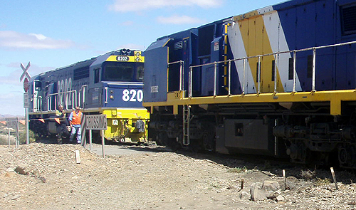 the Leigh Creek coal train traveling toward Port Augusta derailed at Copley in the Flinders Ranges.  Photo: Nellie Malseed