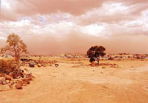 Coober Pedy is accustomed to dust storms,