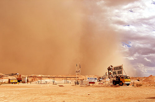 70 million tonnes per year of radioactive tailings finely pulverised into dust size particles are concerning with dust storms like this one this week