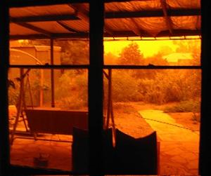Flinders residents stayed indoors watching the eerie orange dust engulf their homes