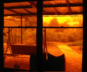 Flinders residents stayed indoors watching the eerie orange dust engulf their homes