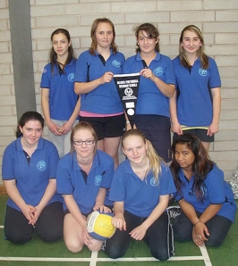 Coober Pedy Area School girls - winning volleyball team