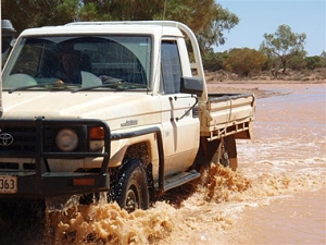 Rain has continually washed out roadwork attempts on the Hamilton to Oodnadatta Road