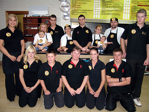 Coober Pedy finalists John's Pizza Bar not only catering for the region but active in employing local staff