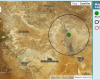 Location of earthquake between Oodnadatta and William Creek