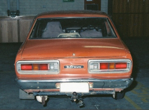 The pictures of the Datsun 180B were taken at the time of the initial investigation