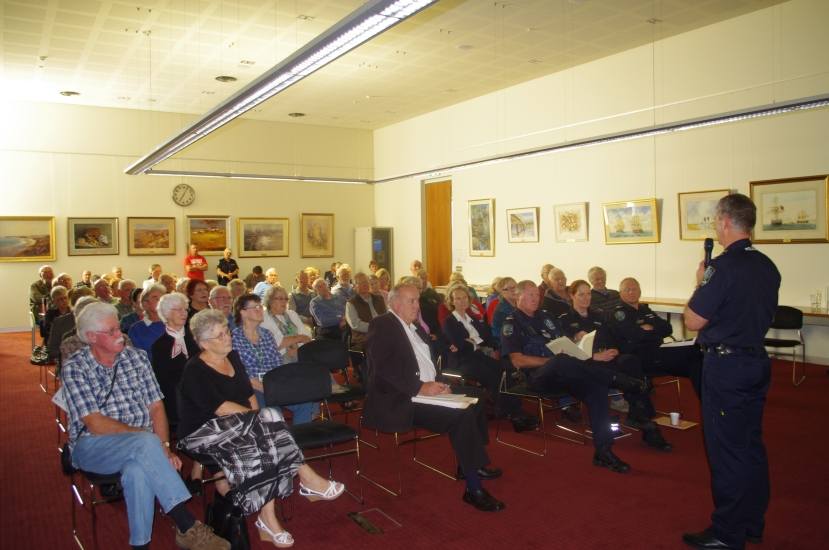 The community forum hosted by police in Victor Harbor to chat face-to-face about local crime issues was well attended