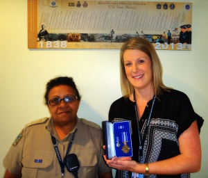 Senior Community Constable Jenny Scott and Sergeant Lauren Leverington with their awards