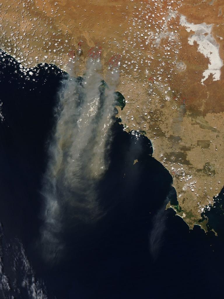 Nasa image bushfires