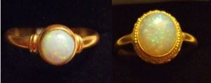 More opal and gold rings stolen from the Comfort Inn Motel
