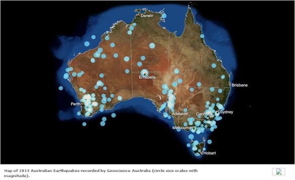 Earthquakes Australia