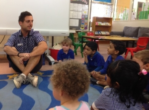 Coober Pedy Area School Kindergarten children learn about 'stranger danger'