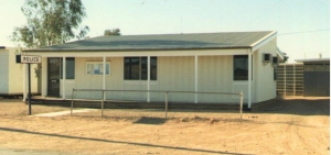 The old police station on Paxton Road, Coober Pedy (in 1985),
